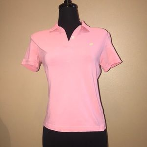 Lilly Pulitzer Pink Polo Shirt Size M